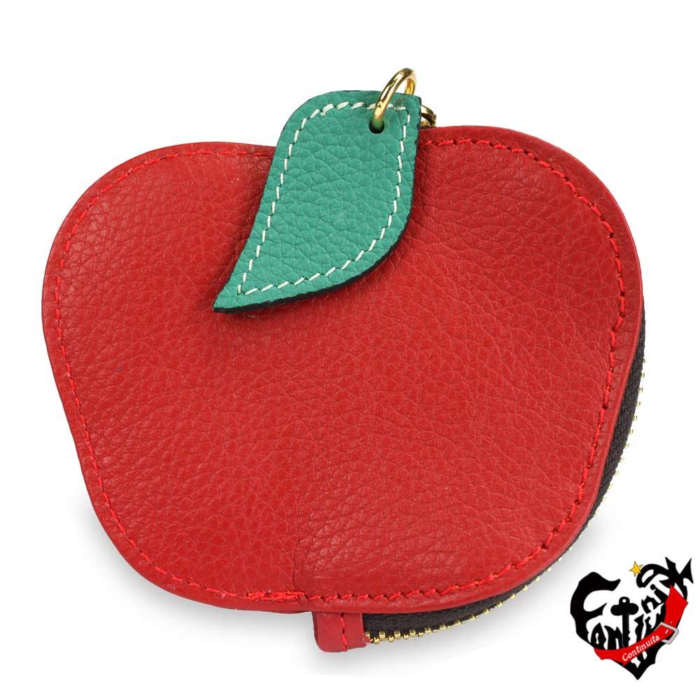 Continuita 康緹尼 MIT輕巧蘋果水果造型零錢包