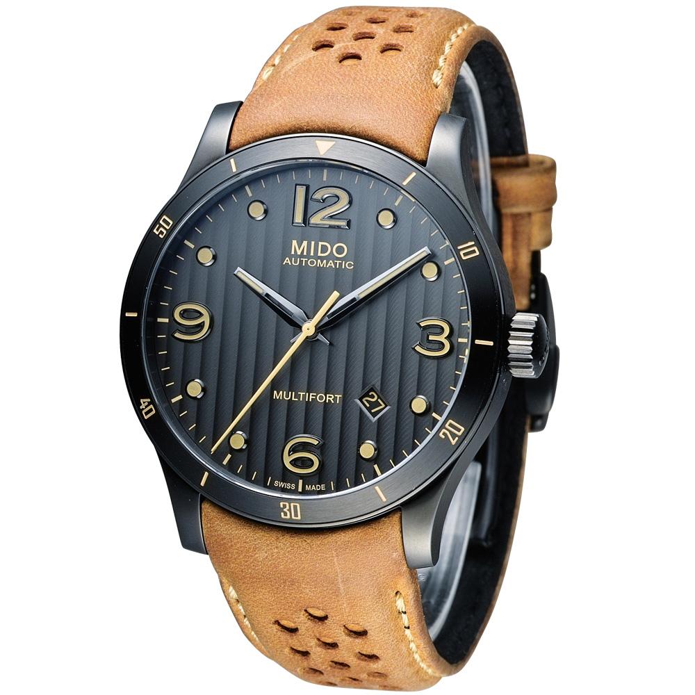 美度 MIDO Multifort 先鋒系列80小時機械錶-咖/42mm