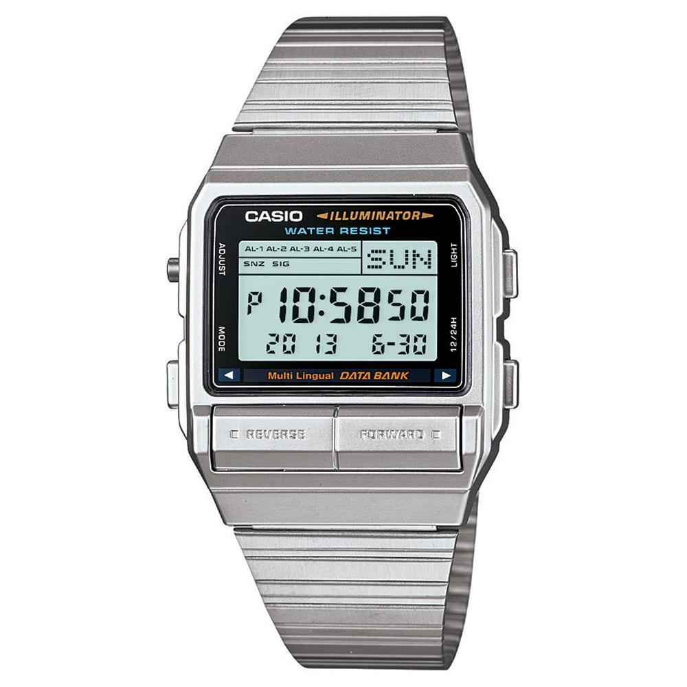 CASIO DATABANK 電話記錄經典商務數位錶(DB-380-1)-32mm
