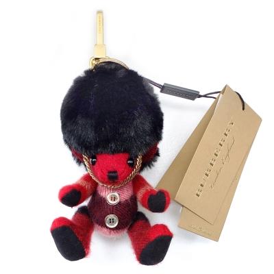 BURBERRY 格紋喀什米爾英倫皇家衛兵 THOMAS 泰迪熊墜飾
