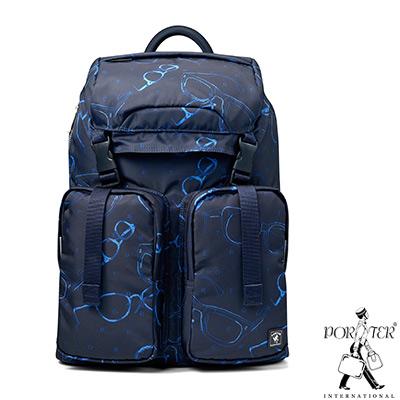 PORTER-世界探索OPTICS旅行休閒後背包-深藍