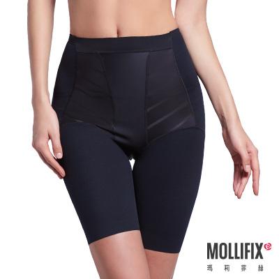 Mollifix 超自我 蜜腿SHAPE五分褲 黑