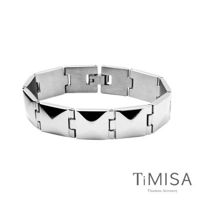 TiMISA《龐克鉚釘》純鈦鍺手鍊