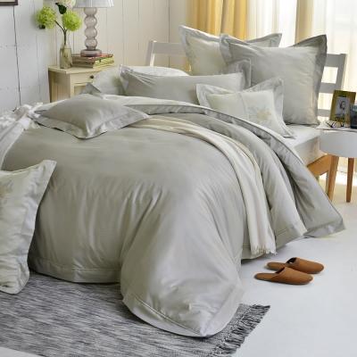 義大利La Belle 特大天竹緹防蹣抗菌吸濕排汗兩用被床包組-悠然光年