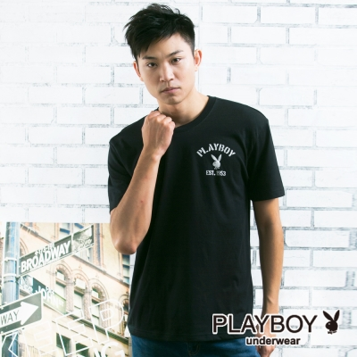 PLAYBOY 流行兔頭LOGO彩色內衣(黑)