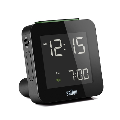 德國BRAUN百靈-數位旅行電子鬧鐘-黑(BNC009BK)