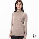 zuzai 自在發熱衣BIELLA YARN女高領羊毛衫-卡其色