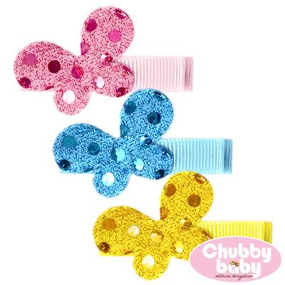 Chubby Baby巧比貝比 兒童寶寶髮夾Butterfly(C)