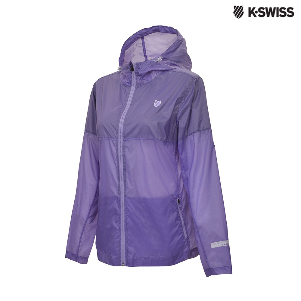 K-SWISS Two Tone Windbreaker抗UV風衣外套-女-紫