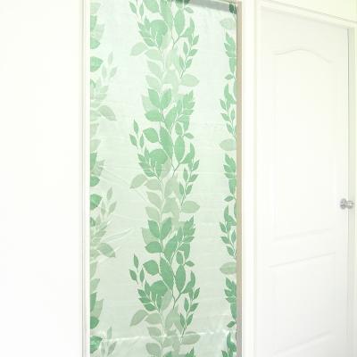 布安於室-繁葉亮面遮光風水簾-綠色