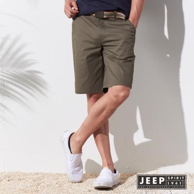 JEEP 夏日型男休閒造型短褲 (橄欖綠)