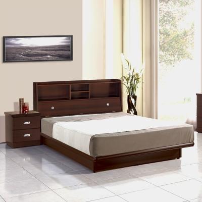 群居空間 華特5尺掀床房間組(床頭箱+掀床+床墊)-胡桃色