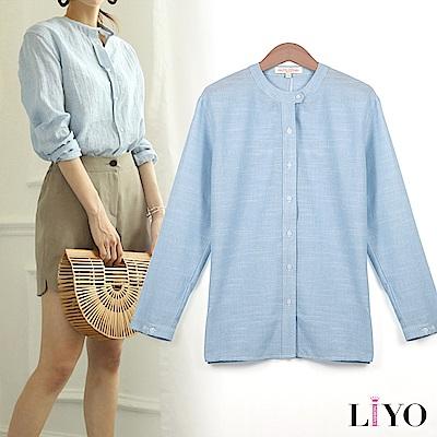 襯衫立領寬鬆休閒清新女OL薄透氣襯衫LIYO理優E815005 S-XL