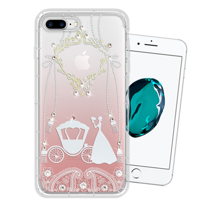 WT iPhone 8 Plus/ 7 Plus 奧地利水晶彩繪空壓手機殼(精靈...