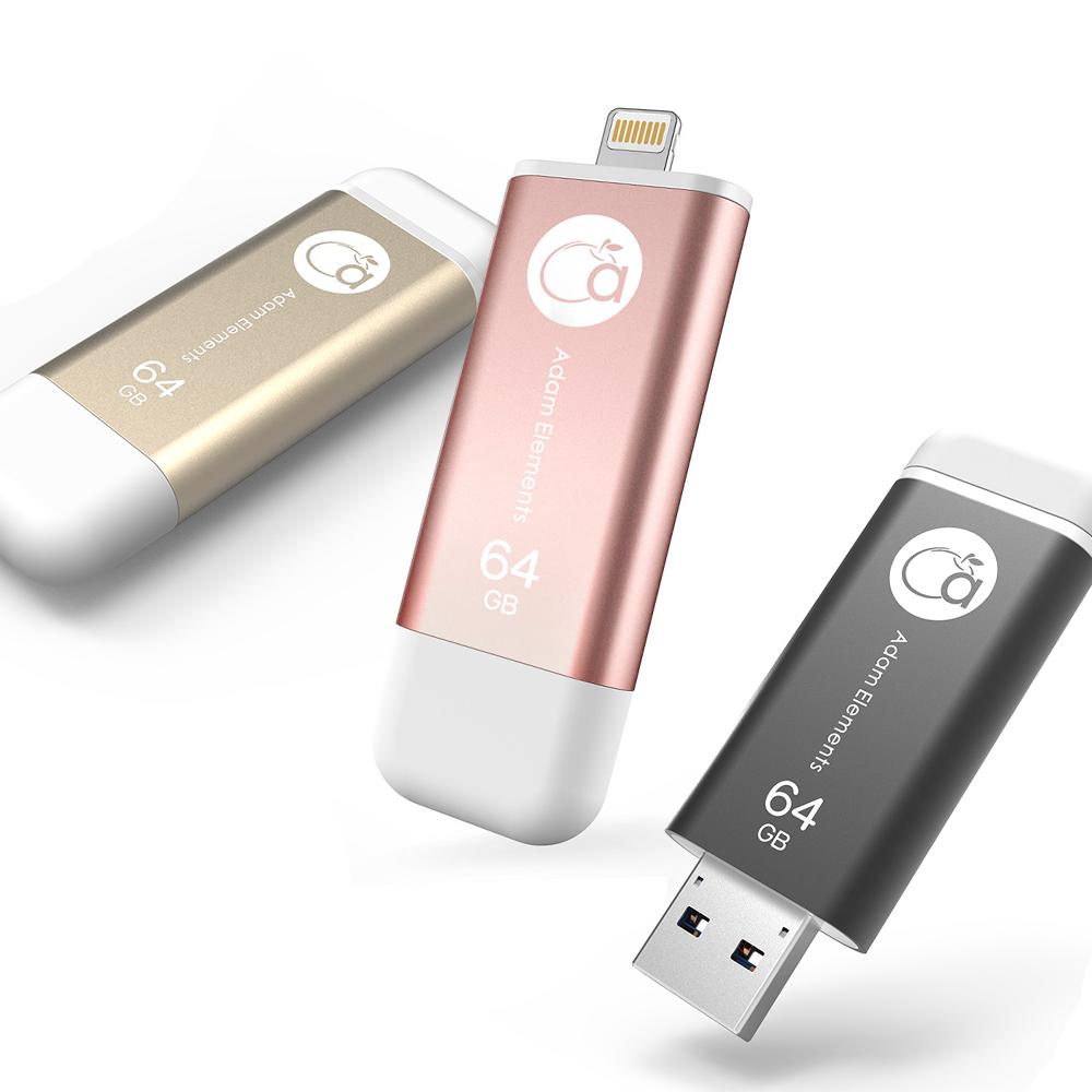 亞果元素 iKlips iOS系統專用USB 3.1極速多媒體行動碟 64GB