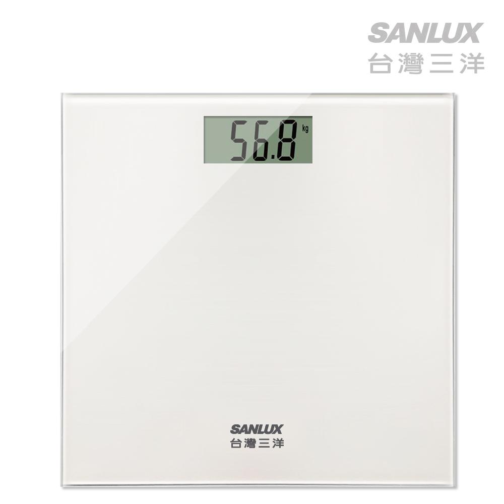 台灣三洋SANLUX數位體重計 (SYES-301W)白色