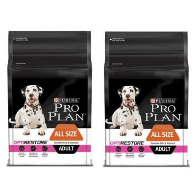 Pro Plan冠能 一般成犬鮮魚低敏膚質及腸胃保護配方 2.5kg X2包