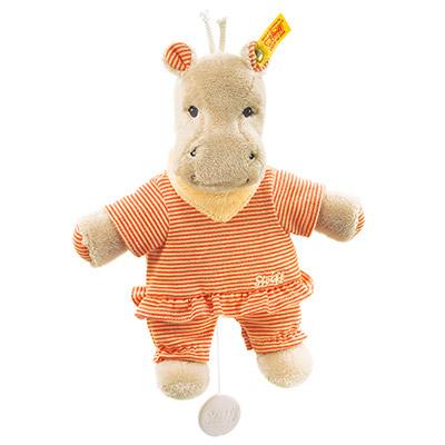 STEIFF泰迪熊 - 嬰幼兒玩偶附音樂鈴 Mockyli Hippo Music Box