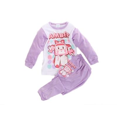 POLI純棉防蚊布居家套裝 紫 k60221