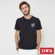 EDWIN 閃電印花徽章短袖T恤-男-黑色