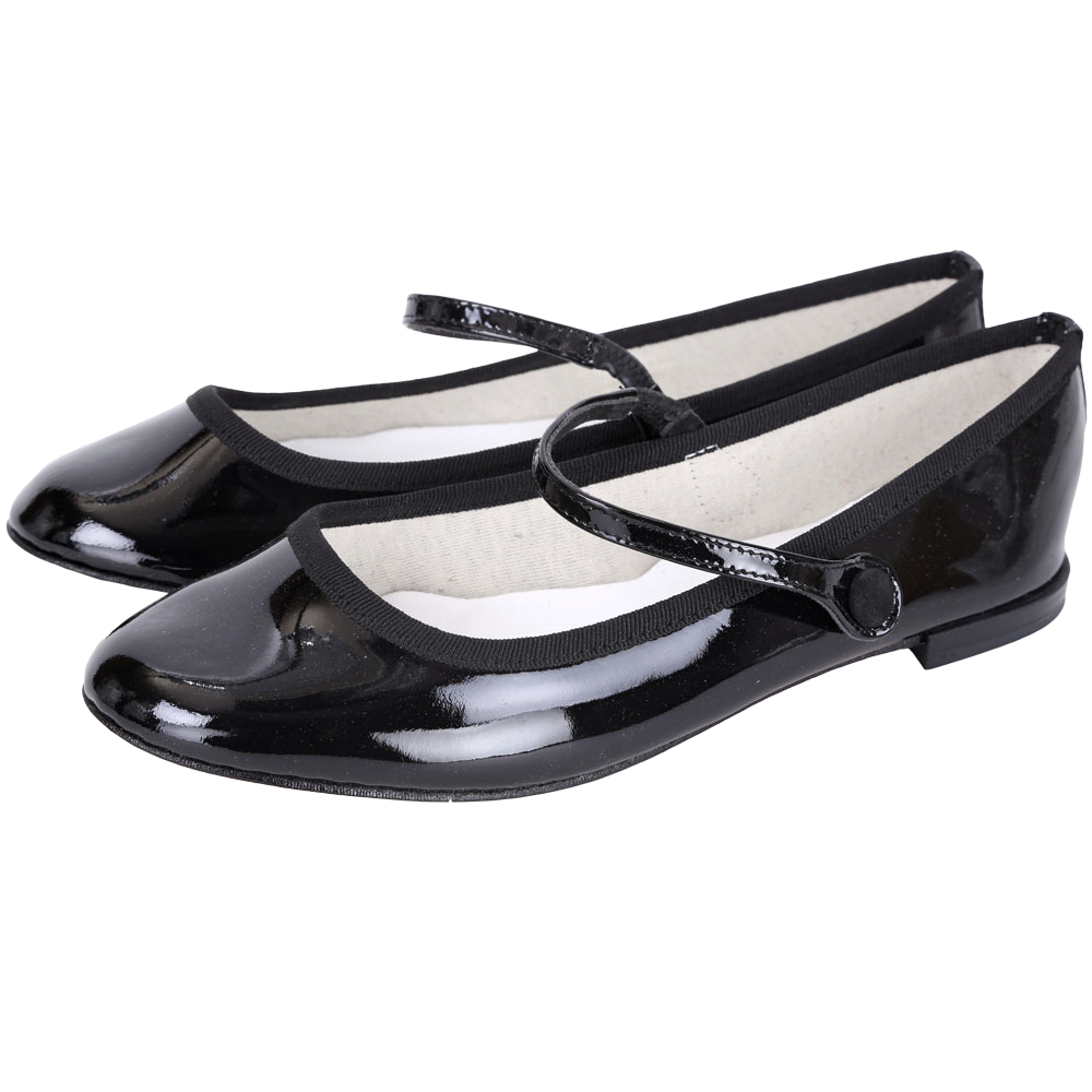 Repetto Lio 漆皮瑪麗珍平底鞋(黑色)