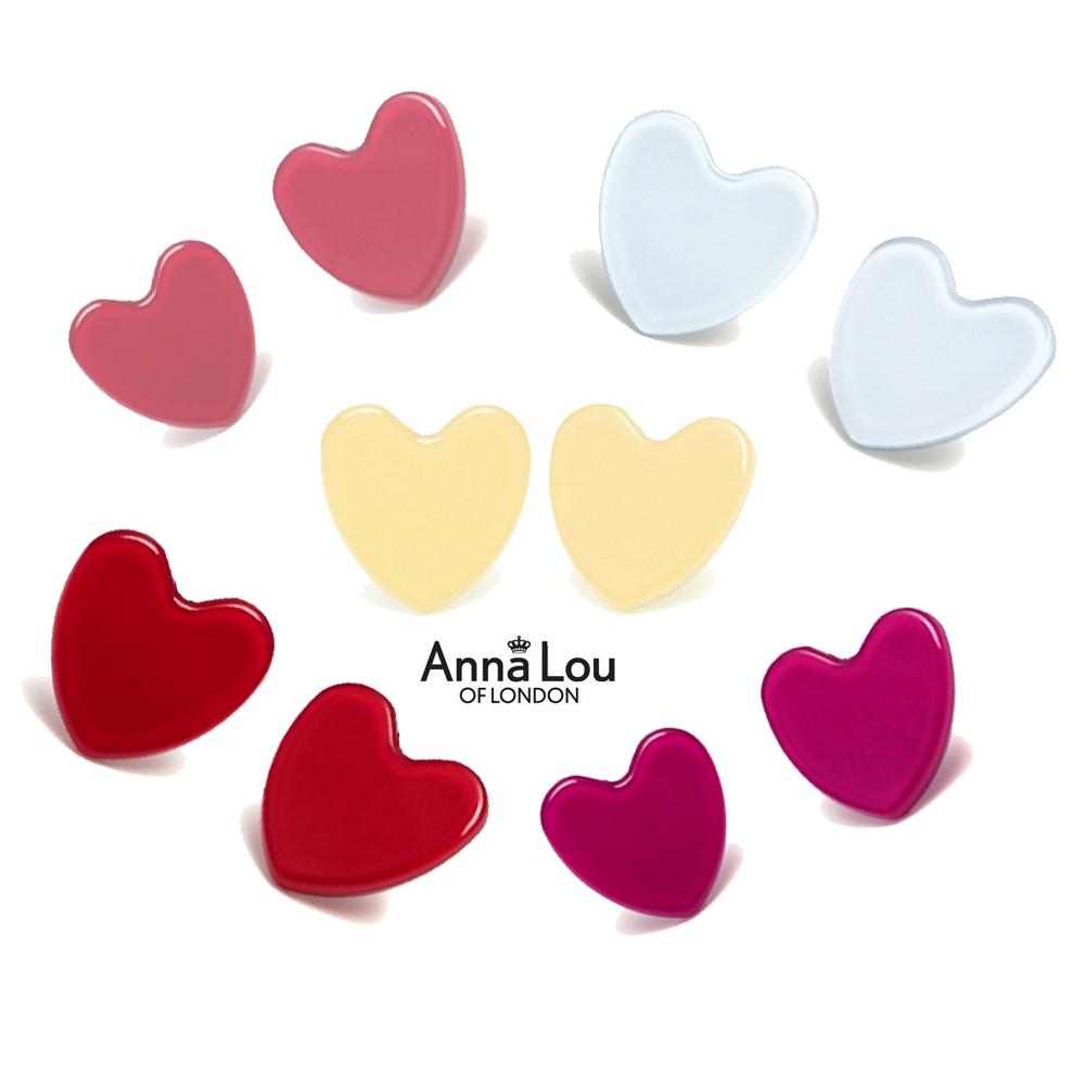 Anna Lou Of London 倫敦品牌 立體果凍 愛心耳環