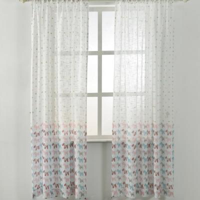 伊美居 木馬樂園透光落地窗紗 130x230cm (2件)
