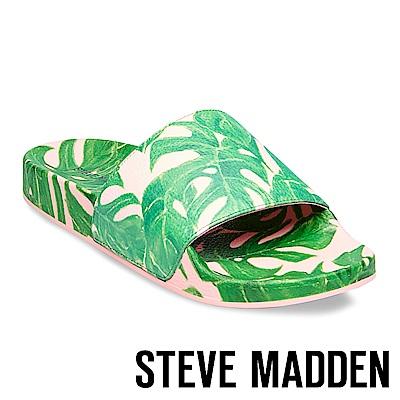 STEVE MADDEN-SLIVER 壓紋厚底拖-綠葉粉