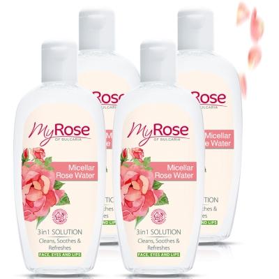 保加利亞My rose三合一玫瑰溫和卸妝水220ml四入