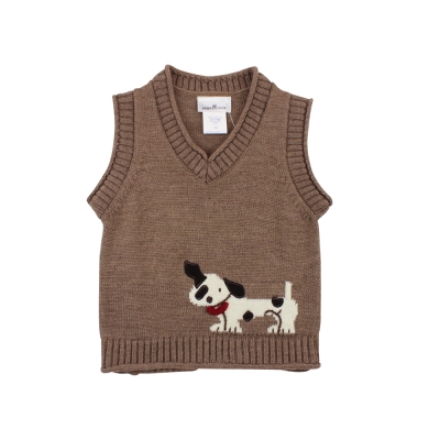 愛的世界 pappa&ciccia V領混羊毛背心毛衣/2~4歲