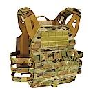 J-TECH 神盾-V 2.0 戰術背心(含快拔彈匣袋模組板)-迷彩綠MC