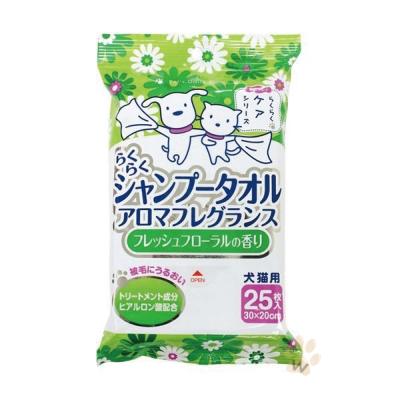SuperCat超級貓 CS42寵物洗毛巾(清新花香)25枚 2入