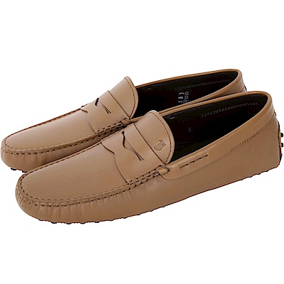 TOD'S Gommino Driving 經典皮革豆豆鞋(男鞋/棕色)