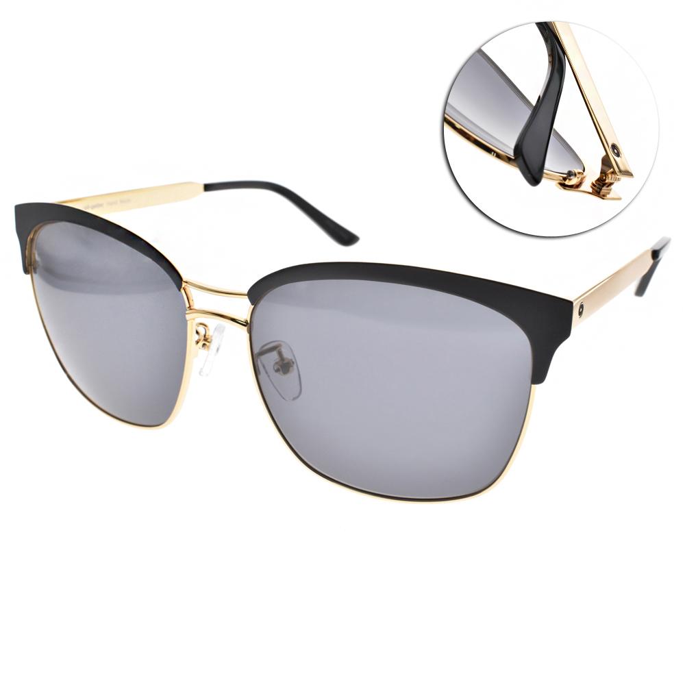 Go-Getter太陽眼鏡 雙槓韓系眉框/黑-金#GS1701 GDBK