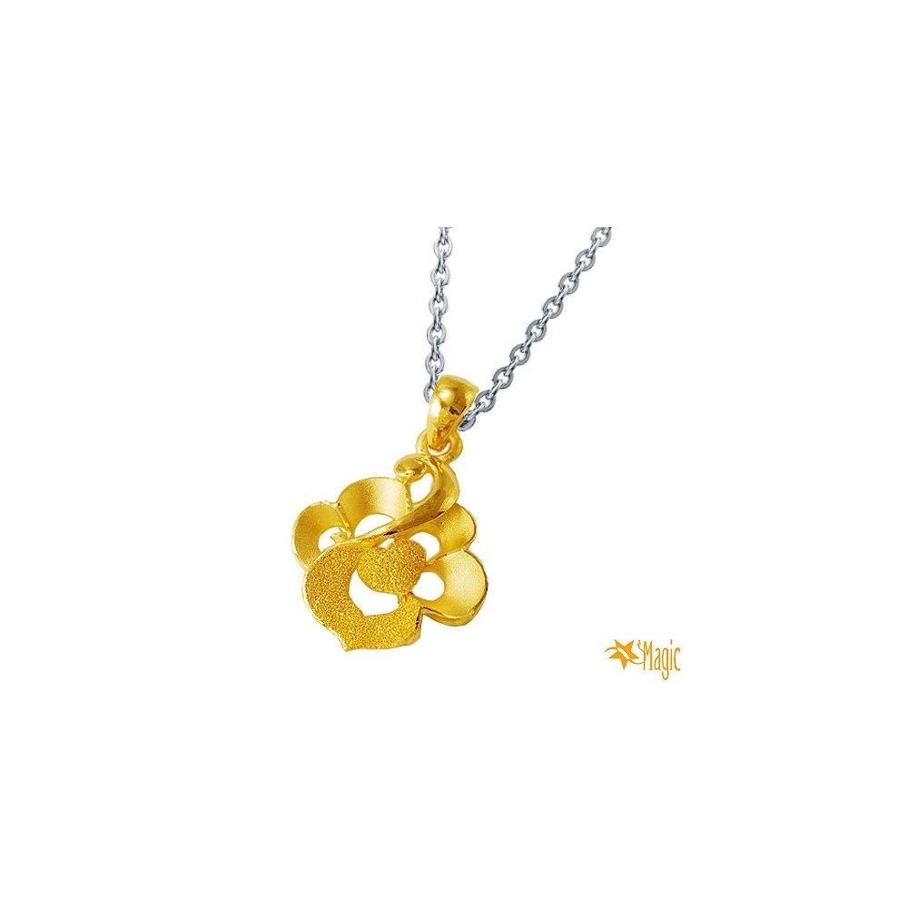 Magic魔法金 愛的圖騰黃金墜 (約0.9錢)