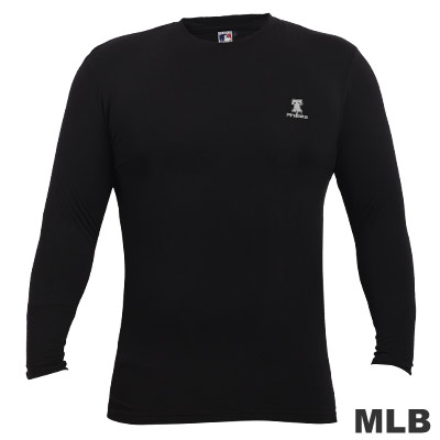MLB-高領熱力棉T恤-黑(男)