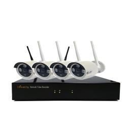 宇晨I-Family 免配線/免設定960P四路式無線監視系統套裝一機四鏡附2TB硬碟