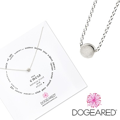Dogeared 許願項鍊 銀色豆豆 Circle Necklace 附原廠禮盒