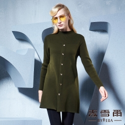 麥雪爾金屬圓釦簡約針織羊毛衣