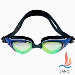 SANQI三奇 抗UV防霧休閒泳鏡(1603-藍F)