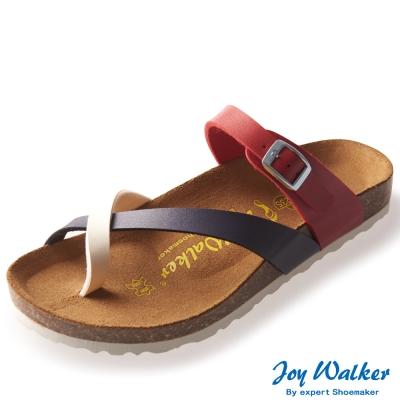 Joy Walker 素面交叉帶夾腳涼鞋* 紅色