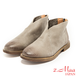 2.Ma-真皮日系札幌刷色踝靴-灰