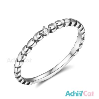 AchiCat 925純銀戒指尾戒 純粹閃耀