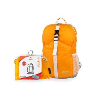 CROWN-皇冠-可折疊式後背包-橘色