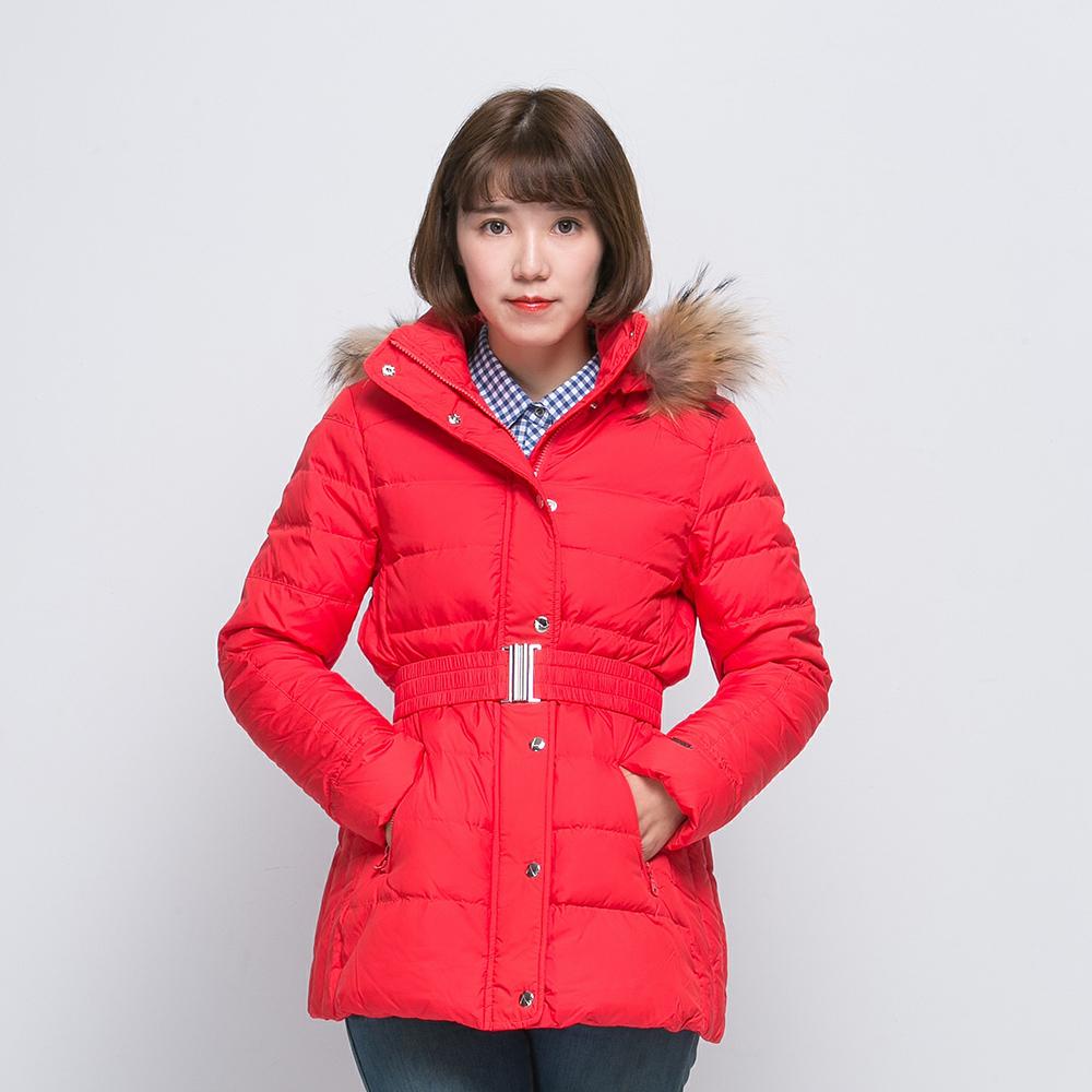ATUNAS 歐都納 女款連帽羽絨外套 A-G1502W 紅
