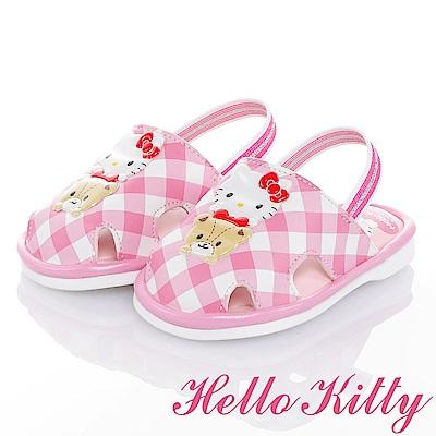 HelloKitty 好朋友系列 輕量減壓防滑學步涼鞋童鞋-粉
