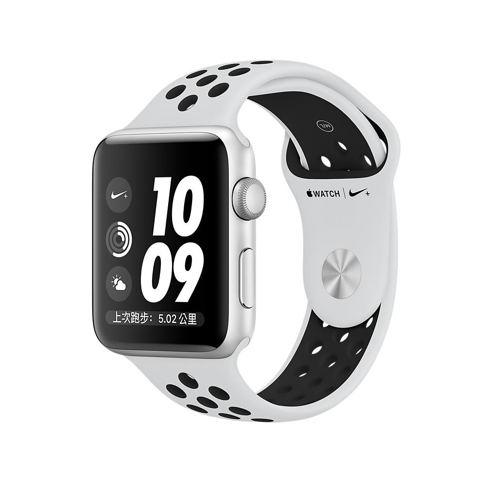 Apple Watch Nike+ (GPS) 38mm 銀鋁金屬錶殼+黑色Nike運動型錶帶