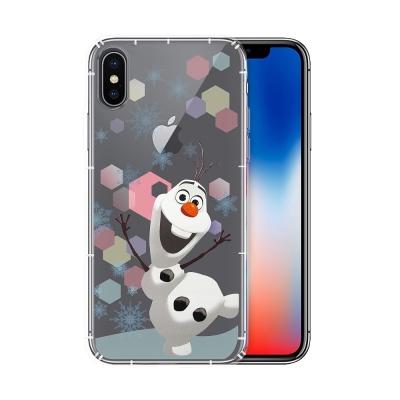 冰雪奇緣展場限定版 iPhone X 空壓殼(彩色雪花雪寶)
