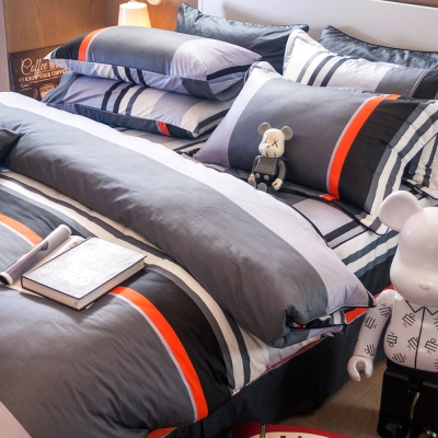 OLIVIA 夏洛特 灰 雙人床罩冬夏兩用被套五件組