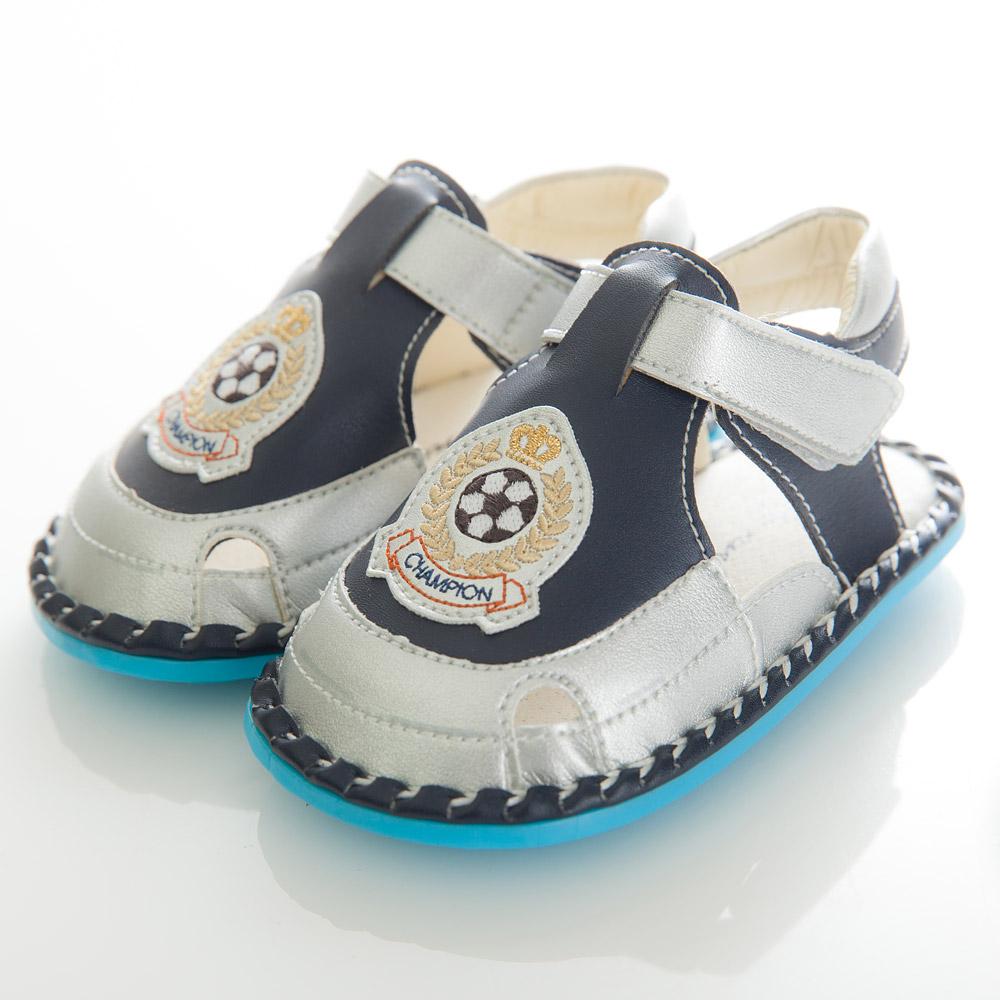 my nuno 足球小子室內學步鞋 藍(13.5-15CM)